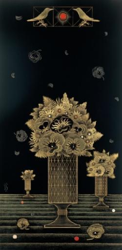 高橋節郎《花の地平線 1998》